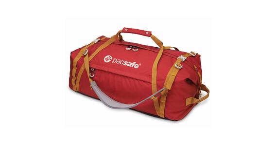 Pacsafe Duffelsafe AT80 Rejsetaske rød